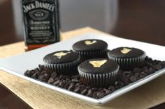 Black Bottom Cupcakes - Jack Daniels.