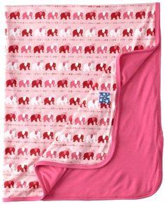 Amazon.com: Kicky Pants Baby-Girls Newborn Print Basic Blanket, Natural Jacks, One Size: Clothing