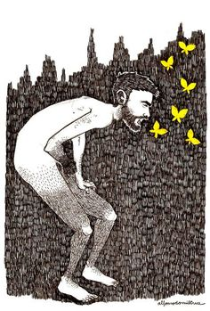 yellow (throwing up butterflies). 2013 alfonso casas moreno,