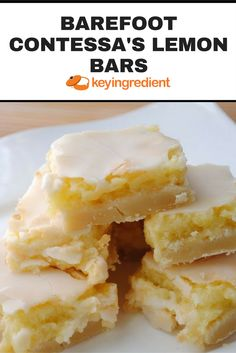 Apr 2020 - Deliciously sweet lemon bars with a shortbread crust and a rich lemon filling. Don't forget to dust the bars with powdered sugar while they're still hot! Lemon Desserts, Lemon Recipes, Just Desserts, Baking Recipes, Sweet Recipes, Cookie Recipes, Delicious Desserts, Yummy Food, Bar Recipes