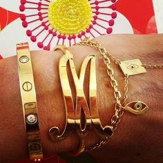 XLG Integrated Initial Bangle! Which letter would you get? http://www.jenniferzeuner.com/xlg-integrated-initial-bangle.html