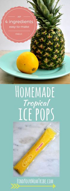 Easy-to-make tropical ice pops that taste SO good. AIP, Paleo, Whole 30, diary-free, no sugar added, real food ingredients. So simple. So Good.