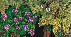 """""""Η Αλεπού και τα σταφύλια     Μια αλεπού πεινασμένη είδε πάνω σ' ένα δέντρο πλεγμένη μια κληματαριά γεμάτη χοντρό... Blog, Painting, Painting Art, Blogging, Paintings, Painted Canvas, Drawings"""