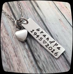 Cremation jewelry, Custom URN Jewelry, Memorial Necklace, Remembrance Jewelry…