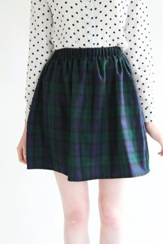 I love this skirt so much <3 ETSY -Step into our classic Lucy Tartan Skirt This timeless skater skirt will see you through season to season. Features elasticated waist for a snug
