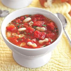 Tomato Soup with White Beans and Pasta  #pasta #recipes