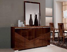 Capri 4-Door Buffet and Mirror by ESF