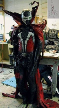"""Character: Spawn (Albert """"Al"""" Simmons) / From: IMAGE Comics 'Spawn' Series by Todd McFarlane / Cosplayer: Unknown"""