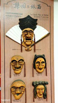 한국의 탈, Korean Mask Korean traditional mask used at Andong Hahoe byulsingut Mask performance. Which one do you like from here? Let's pick up one. For me, I like Yangban tal cause its big smile face  :)  In Korea, there are many mask performance at Andong area, gyunggi area or Jeolla area. This mask is one of the old traditional product what you can feel shape of Korean face. Enjoy Korean Smile :)  I will share the video once I see this performance next time.   #Mask #Korea