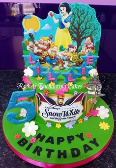 Rainbows and Unicorn Themed 18th Birthday Cake by Rachels
