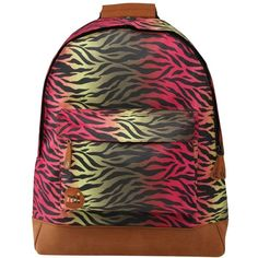 Mi-Pac Hot Zebra Backpack, Multi ($43) found on Polyvore