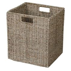 Reside Seagrass Cube Basket Natural - Accessories - Furniture Accessories - Furniture - The Warehouse