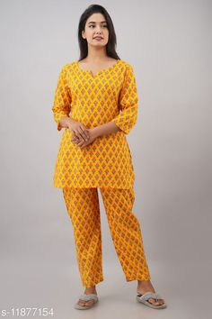 Checkout this latest Nightsuits Product Name: *Jivika Women Rayon Nightsuit* Top Fabric: Rayon Bottom Fabric: Rayon Top Type: Regular Top Bottom Type: Pyjamas Sleeve Length: Three-Quarter Sleeves Pattern: Printed Multipack: 1 Sizes: S (Top Bust Size: 38 in, Top Length Size: 30 in, Bottom Waist Size: 28 in, Bottom Length Size: 38 in)  M (Top Bust Size: 40 in, Top Length Size: 30 in, Bottom Waist Size: 30 in, Bottom Length Size: 38 in)  L (Top Bust Size: 42 in, Top Length Size: 30 in, Bottom Waist Size: 32 in, Bottom Length Size: 38 in)  Country of Origin: India Easy Returns Available In Case Of Any Issue   Catalog Rating: ★3.9 (258)  Catalog Name: Women's Rayon Nightsuits CatalogID_2255512 C76-SC1045 Code: 154-11877154-1611