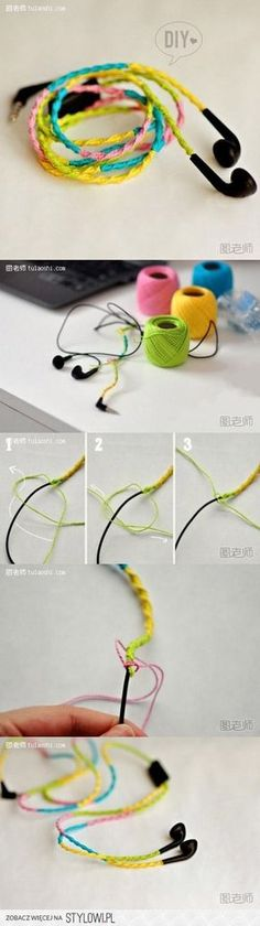 How to make your own unique colorful ear plug decoratio