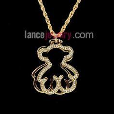 Lovely bear decoration pendant necklace