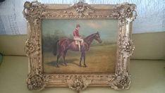 Century Oil Painting of Race Horse and Jockey Mary John, Kind Words, Horse Racing, I Am Happy, 19th Century, Restoration, Handmade Items, My Etsy Shop, Horses