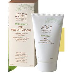 As Seen in Real Simple Magazine: 'Most Gentle Face Mask: Joey New York Peel-Off Masque - a gel-based formula that cleans pores and brightens sensitive skin with soothing ingredients like coconut water and ginseng.'