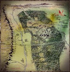 The Middle Earth World of Tolkien : Photo Thranduil, Legolas, Tolkien Map, Village Map, Middle Earth Map, Rpg World, Fantasy Map, Gold Ink, Lord Of The Rings