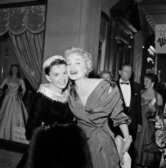 Judy & Marlene Dietrich, at the premiere of A Star Is Born 1954.