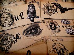 vintage halloween flashcards...OMG sooooo love these!