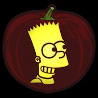The Simpsons Bart CO - Stoneykins Pumpkin Carving Patterns and Stencils