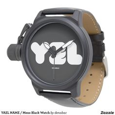 YAEL NAME / Mens Black Watch Relojes