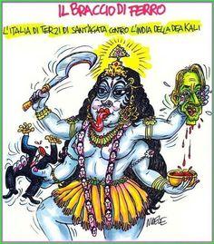 #Nuele l' #italia di terzi di #sant' #Agata contro l' #india della #dea #kali