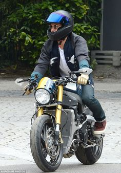Who's that guy? Looking cool in a biker jacket and skinny jeans, the British star was typi...