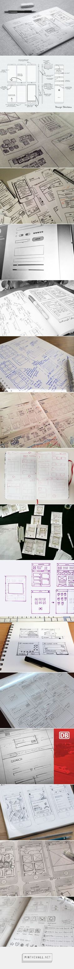 UI & Wireframe Sketches - created via https://pinthemall.net
