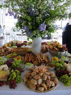 """I love the textures and design of this display, yet yummy and calls to """"dig in""""! Would look great for one of Melodie's appetizer tables."""