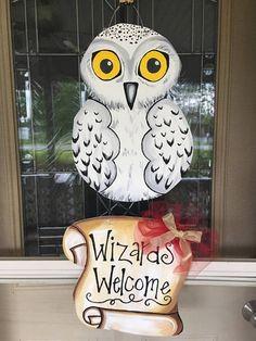 Harry Potter door hanger Hedwig Door hanger Owl door hanger