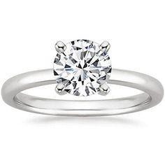 2 Carat Round Cut 4 Prong Solitaire Diamond Engagement Ring (J Color SI2 Clarity)