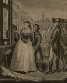 The Unfortunate Marie Antoinette Queen of France at the place of execution. October 16th 1793