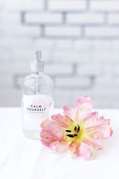 DIY relaxing face mists | designlovefest. calm down: rose water + witch hazel – to make this, fill your bottle 1/3 of the way up with distilled water, slowly add three tablespoons of rose water and witch hazel. you can adjust this amount depending on preference. we added a little more rose water because i love the smell.