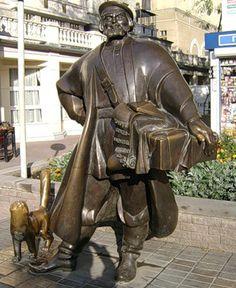 Памятник купцу-коробейнику. Россия.