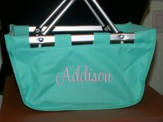 Personalized mini market tote, available at www.personalizeyouritems.com