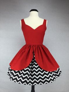 "Twin Peaks Inspired Handmade Dress ""Damn Fine Frock"" - Full Skirt Pin Up Cosplay"