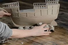 DIY Cardboard Pirate Ship - DIY Cardboard Pirate Ship : 8 Steps (with Pictures) – Instructables - Cardboard Pirate Ship, Diy Cardboard, Homemade Pirate Costumes, Boat Stands, Pirate Crafts, Make A Boat, Viking Ship, Pirate Birthday, Canoe Trip