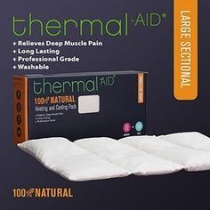 Heating & Cooling Pack by Thermal-Aid: Large Sectional by Thermal-Aid. $30.37. The Large Sectional heating pack is designed to eliminate pain and swelling from on large parts of the body. The large sectional pack is perfect for relieving back pain, muscle soreness and sports injuries. The heating pack is 100% natural and safe. Warm it up in the microwave or freeze it in the freezer.  Our Bio-Engineers and Doctors worked closely with milling experts using a unique patented proc...