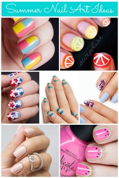 For a summery manicure, try mini watermelons, patriotic stars, or blush dots!