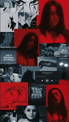 Pin by tsu on billie eilish 'cause the party is over in 2019 Wallpaper Collage, Red Wallpaper, Tumblr Wallpaper, Billie Eilish, Aesthetic Collage, Red Aesthetic, Aesthetic Videos, Aesthetic Pictures, Wallpapers Android