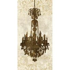 Vintage Chandelier LED Lighted Canvas Art | Chandeliers, Living ...