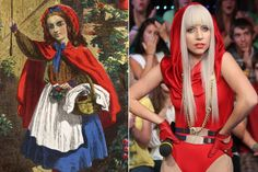 Little Red Riding Hood, c. 1812; Lady Gaga, 2008. Edward Gooch, Scott Gries