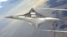 The supersonic bi-directional flying wing (SBiDir-FW) aircraft in high-speed configuration...