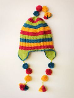 flap happy hat!  This link isn't any good, but you can find the pattern on the web.  So cute!