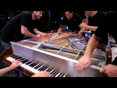 This will be AWESOME to show the kids to the different timbres of the piano!!!!    One Direction - What Makes You Beautiful -ThePianoGuys