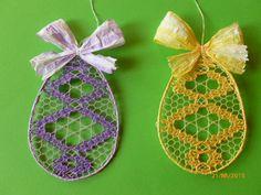 paličkované vajíčko dle podvinku od Galuszkových Bobbin Lace, Ballerina, Christmas Ornaments, Knitting, Holiday Decor, Inspiration, Accessories, Easter, Party