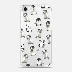 Watercolor smart Penguin/ peace Panda ? by imushstore - Snap Case