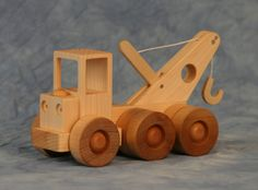 Wooden Toy Tow Truck by JoliLimited on Etsy