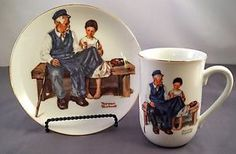 Norman Rockwell Collectable Mug Cup Saucer Set The Lighthouse Keepers Daughter | eBay